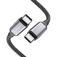 UNAMAK USB C to USB C Cable 6.6FT (60W 20V/3A) Compatible with iPad Pro 2020 2018, MacBook, MacBook Pro, Pixel, Samsung…