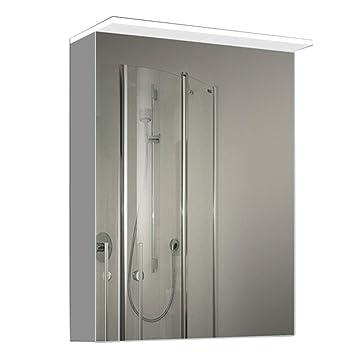 Amazon.com: Bathroom Mirror Cabinet with Door Smart Led ...