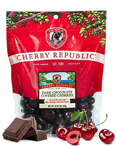 Cherry Republic Chocolate Cherries - Authentic and Fresh Chocolate Covered Cherries Straight from Michigan - Dark Chocolate, 16 Ounces (Chocolate Covered Dried Cherries)