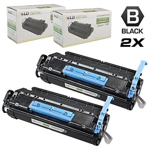 LD © Canon Compatible #106 (0264B001AA) Set of 2 Black Laser Toner Cartridges for use in the ImageClass MF6530, MF6540, MF6550, MF6560, MF6580, MF6590, MF6595, MF6595cx (Canon Imageclass Mf6540 Toner)