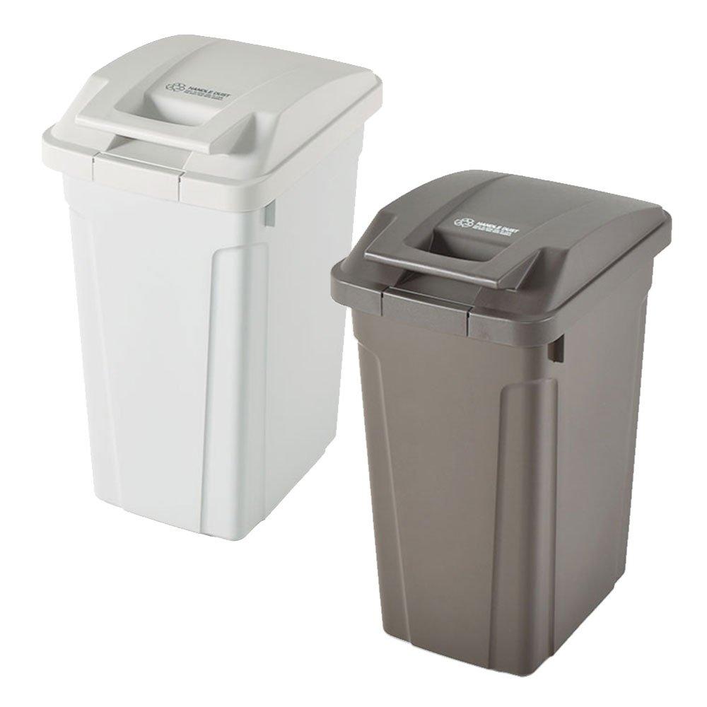 ASVEL SP ハンドル付ダストボックス 35L 2個セット ゴミ箱 ごみ箱 ダストボックス おしゃれ ふた付き アスベル (ホワイト×ブラウン) B0747LPW94 ホワイト×ブラウン ホワイト×ブラウン