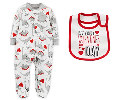 Carters-Baby-Boys-First-Valentines-Day-Dino-Sleep-and-Play-With-Bib-Set