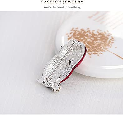 YAZILIND Fashion Cute Christmas Rhinestones Little Penguin Alloy Brooch Pin for Women Girls Accessories