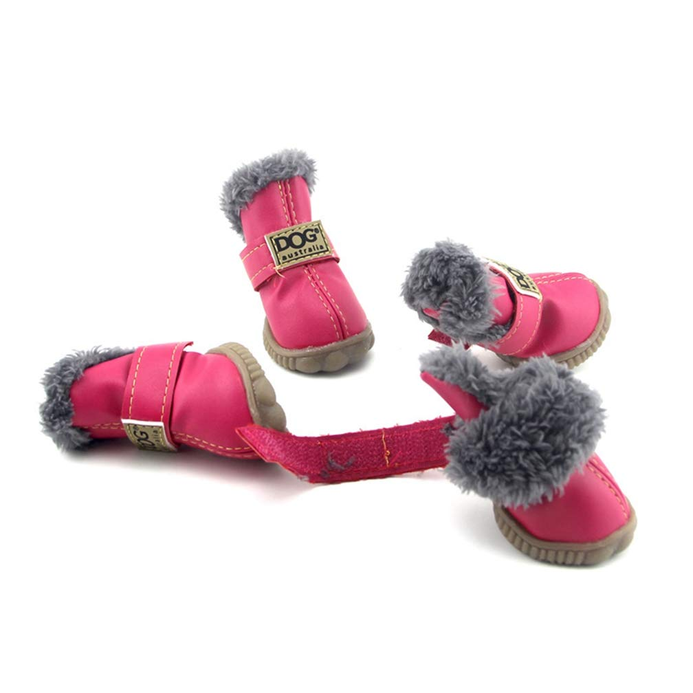 Pet Dog Shoes Boots,Winter Fashion Dogs Snow Boots Chihuahua Waterproof Anti Slip Pet Shoes