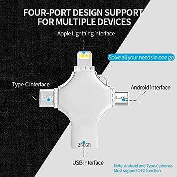 64gb Kaulery Memoria USB 64GB Pendrive para iPhone Android iPad MacBook Computadoras Laptops Type C Dispositivos Flash Drive Expansi/ón de Memoria USB 3.0