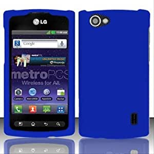 Rubberized Blue for LG LG Optimus M + MS695