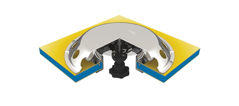 VETUS UFO2 a/érateur de pont inox /Ø200mm /étanche