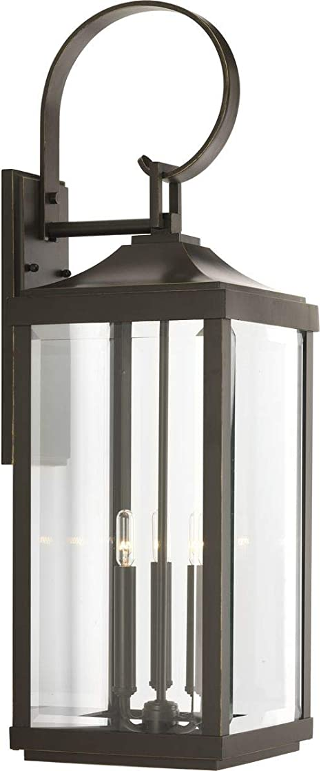 Amazon Com Gibbes Street Collection Antique Bronze Three Light Traditional Large Wall Lantern Home Improvement