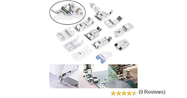 11pcs Prensatelas Pie Accesorios Máquina de Coser Doméstica: Amazon.es: Hogar