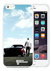 Case For iPhone 6 Plus,Fast & Furious 6 White iPhone 6 Plus (5.5) TPU Case Cover