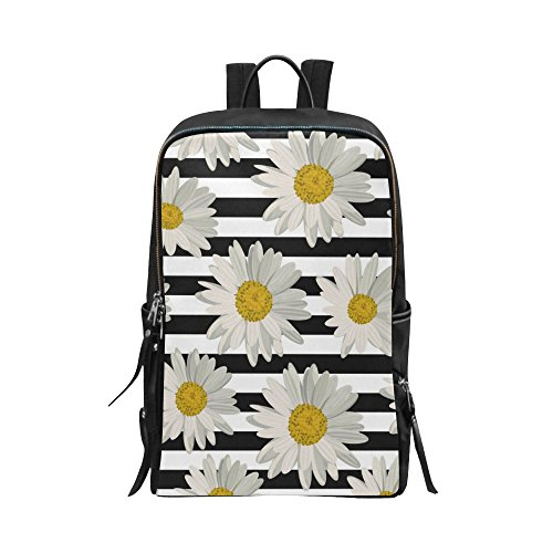 cbf7c75f39ba InterestPrint Unisex School Bag Beautiful Flower Floral Art Painting ...