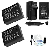 2-Pack Fuji FujiFilm NP-W126 High-Capacity Replacement Batteries with Rapid Travel Charger for Fujifilm X-Pro 1, X-E1, HS30EXR, HS33EXR Digital Cameras - UltraPro BONUS INCLUDED: Camera Cleaning Kit, Camera Screen Protector, Mini Travel Tripod