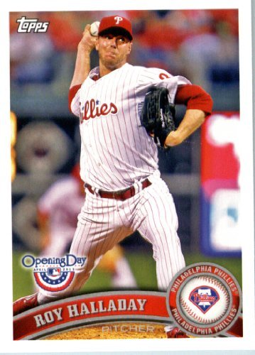 2011 Topps Opening Day Baseball Card In Screwdown Case  120 Roy Halladay Mint