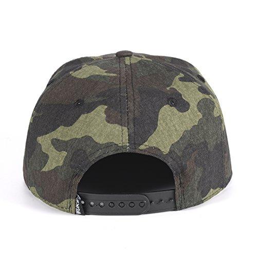 ChezAbbey Solid Flat Brim Hip Hop Adjustable Hat Stylish Snapback Baseball Cap by ChezAbbey (Image #3)
