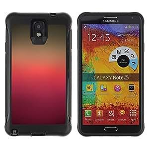 Suave TPU GEL Carcasa Funda Silicona Blando Estuche Caso de protección (para) Samsung Note 3 / CECELL Phone case / / Colors Gradient Purple Pink Brown /