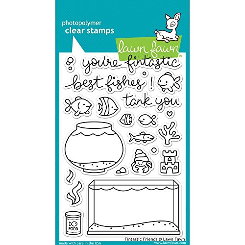 Lawn Fawn Clear Stamps - LF891 Fintastic Friends by Lawn Fawn