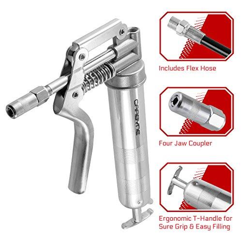carbyne-heavy-duty-professional-quality-mini-pistol-grease-gun-3000-psi-includes-both-12-inch-flex-h