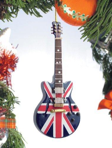 Union Jack Guitar Musical Music Instrument Christmas Tree Ornament Decoration