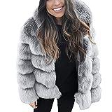 Women Fluffy Coat,Popular Fleece Warm Outwear Long Sleeve Hooded Cardigan Oversize Luxury Faux Fur Jacket