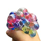 6cm Stress Relief Squeeze Multicolor Crystal Grape Vent Ball Toy Soft Rubber Hand Toy Random Color--1 Pcs
