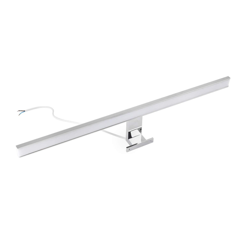 LED Spiegelleuchte 60cm Warmwei/ß Led Badleuchte Verchromt 600LM 8W LED Wandleuchte IP44 Schutzklasse 48x2835SMDs CRI>80