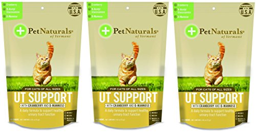 - (3 Pack) Pet Natural's of Vermont 60 Count Urinary Tract Support Supplement Soft Chews for Cats