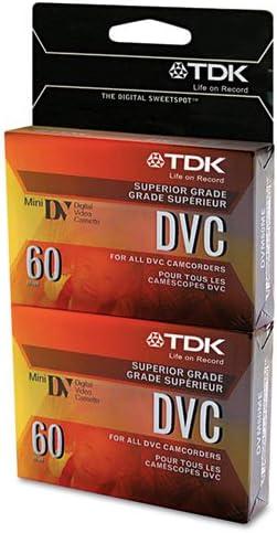 TDK Superior Grade DVC Camcorder Videotape Cassette 60 Minutes 2//Pack