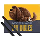 Poster + Hanger: The Secret Life Of Pets Mini Poster (20x16 inches) My Place My Rules, Duke And Max And 1 Set Of Black 1art1® Poster Hangers