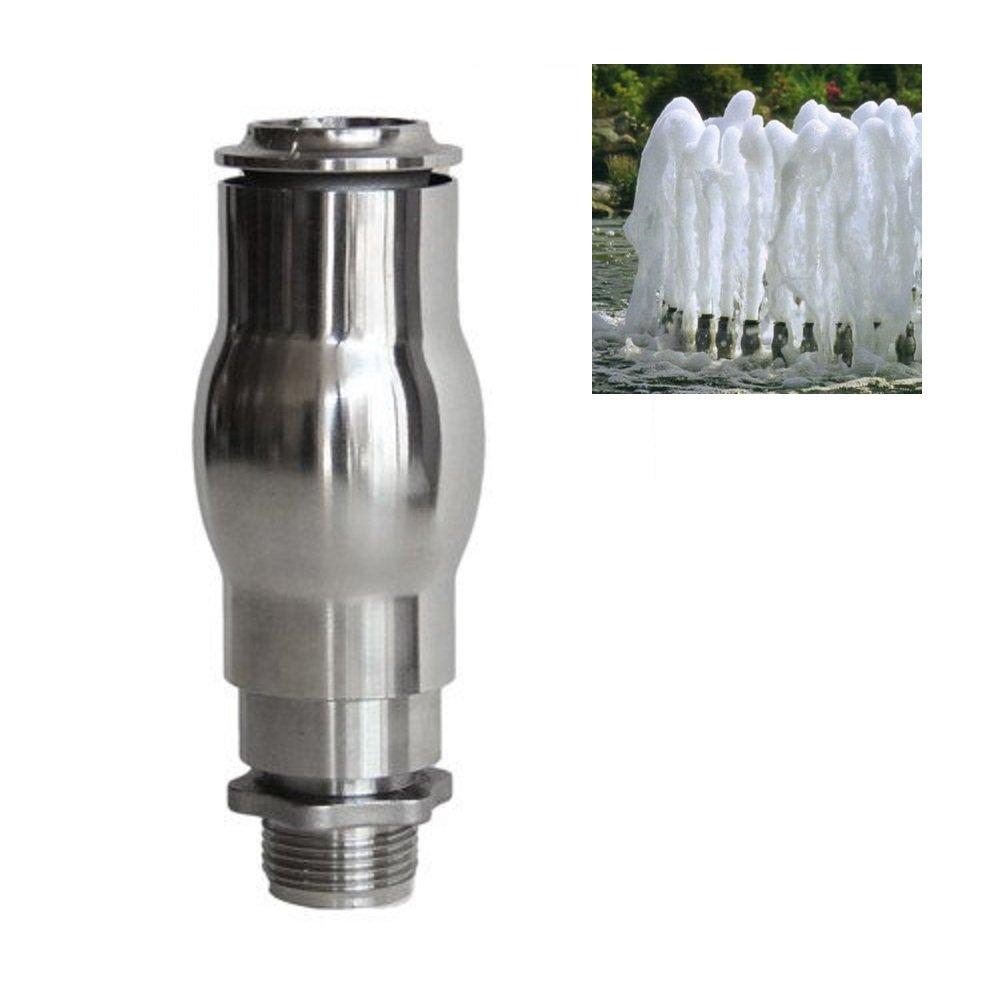 NAVAdeal 1'' DN25 Full Stainless Steel Foam Jet Water Fountain Nozzle Spray Pond Sprinkle Head