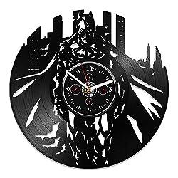 Vinyl Wall Clock, Batman Record Clock, Batman Gift, DC Comics Clock, Vinyl Record Wall Clock, Wall Clock Large, Gift For Kids, Clock Batman, Birthday Gift, Gift For Man, Batman Wall Clock