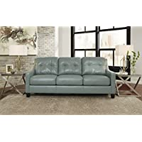 OKean Contemporary Sky Color leather Sofa