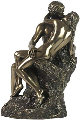 9.5 The Kiss – Sitting on the Rock Statue Erotic Home Decor Figure Figurine