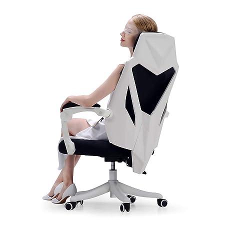 Hbada Office Computer Desk Chair – Ergonomic High-Back Swivel Task Gaming Chair – White