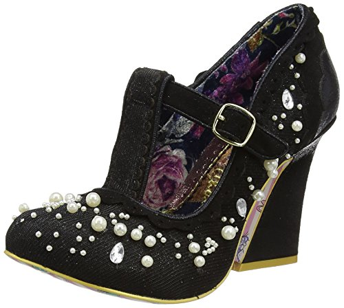 Irregular Choice Juicy Jewels, Zapatos de tacón Mujer Negro (Black)