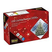 Idena 8325066 - Juego de luces led (200 bombillas), luz blanca