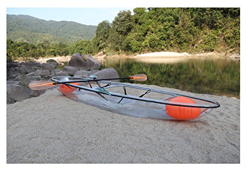 ClearYup Sit On Top Kayak Clear Canoe Kayak Ocean Fishing Plastic Kayak Kayaking for beginners Glass Bottom Kayak Made by Tansparent Polycarbonate Panel