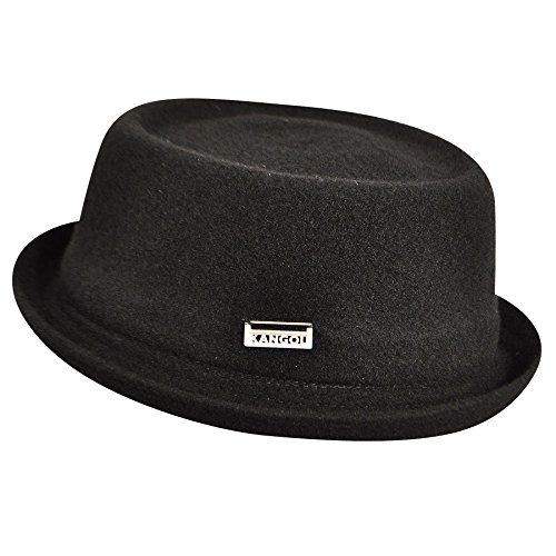 Kangol Unisex-Adult's Wool Mowbray Pork Pie Hat, Black, - Unisex Accessories Hats Kangol