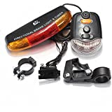 FamilyMall(TM) 3in1 Cycle Bicycle Rear Tail Turn Signal Brake Light 7LED Indicator Horn Bell