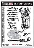 Darkroom Door DDRS188 7.3'' x 5.1'' Artist Palette Cling Stamps, Multicolor