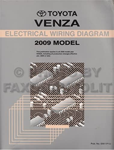 2009 toyota venza wiring diagram manual original toyota amazon com rh amazon com 2013 toyota venza wiring diagram toyota venza electrical wiring diagram