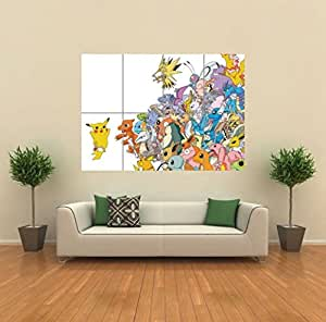 POKEMON PIKACHU ART PRINT POSTER PICTURE GIANT HUGE G939