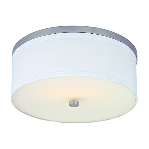 Flushmount Ceiling Light with White Drum Shade Flush Mount