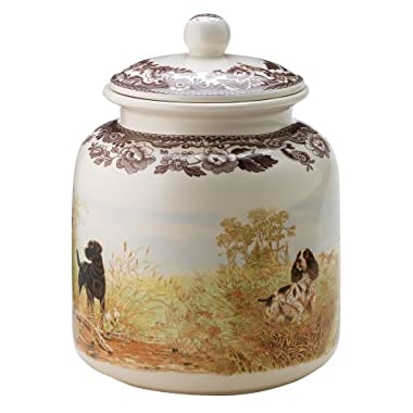 Spode Woodland Hunting Dogs, Dog Treat Canister