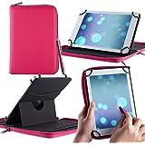 Casezilla Sanei N77 Tablet 360 Rotating Universal EVA Hard Shell Folio Case - Pink