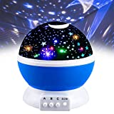 2-10 Year Old Boy Gifts, Our day Night Light Moon Star Projector 360 Degree Rotation Best Gift for Kids 2-10 Year Old Girl Gifts Toys for 2-10 Year Old Boys Toys for 2-10 Year Old Girls Blue ODUSSXK02