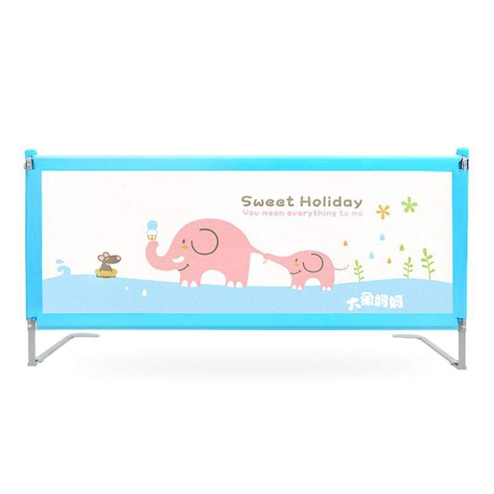 MUMA-Bed Rails Baby Bed Rail Extra Tall 100cm, Vertical Lift Sleep Crib Rail Toddler Mesh Folding Bed Guard for King Size Bed - Blue/Pink (Color : Blue, Size : 1.8m)