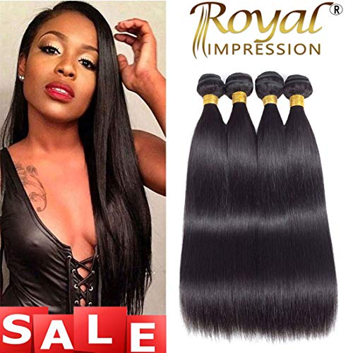 10A Brazilian Straight Hair 4 Bundles 18