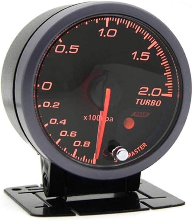 "Universal 2.5/"" 60MM Turbo Boost Gauge BAR Type Black Face Auto Car Meter Sensor"