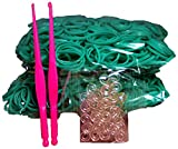 Bluedot Trading 1200 piece teal rubber band pack -Piece Do-It-Yourself Bracelet Kit Refill Pack, Includes Rubber Band and S-Clips for Loom Art/Kids Craft with Rainbow, Teal
