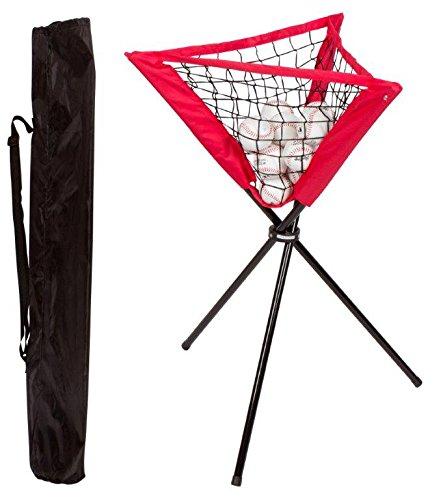 Trademark Innovations Portable Batting Ball Caddy with Carry Bag for Baseball & Softball Practice ()